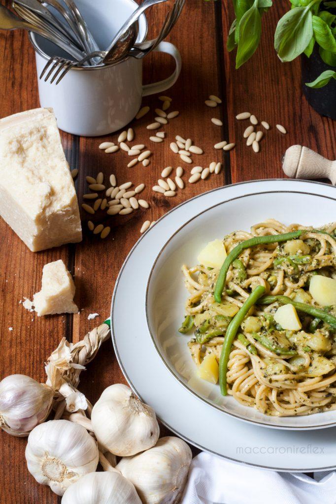 Pasta al pesto con patate e fagiolini ricetta - Pasta Pesto Day