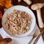 Tagliatelle al sugo di funghi porcini
