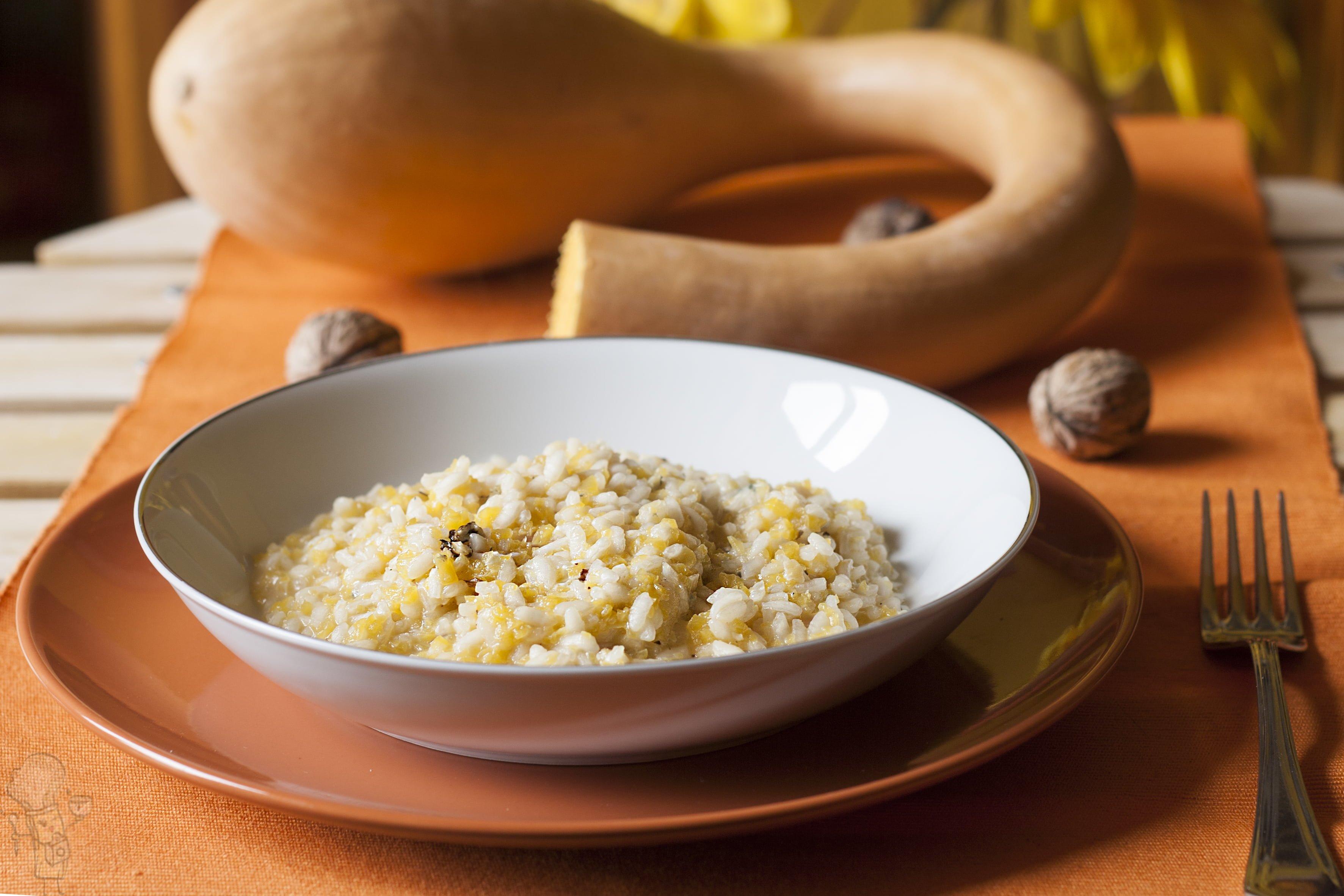 Risotto di zucca e gorgonzola al mascarpone