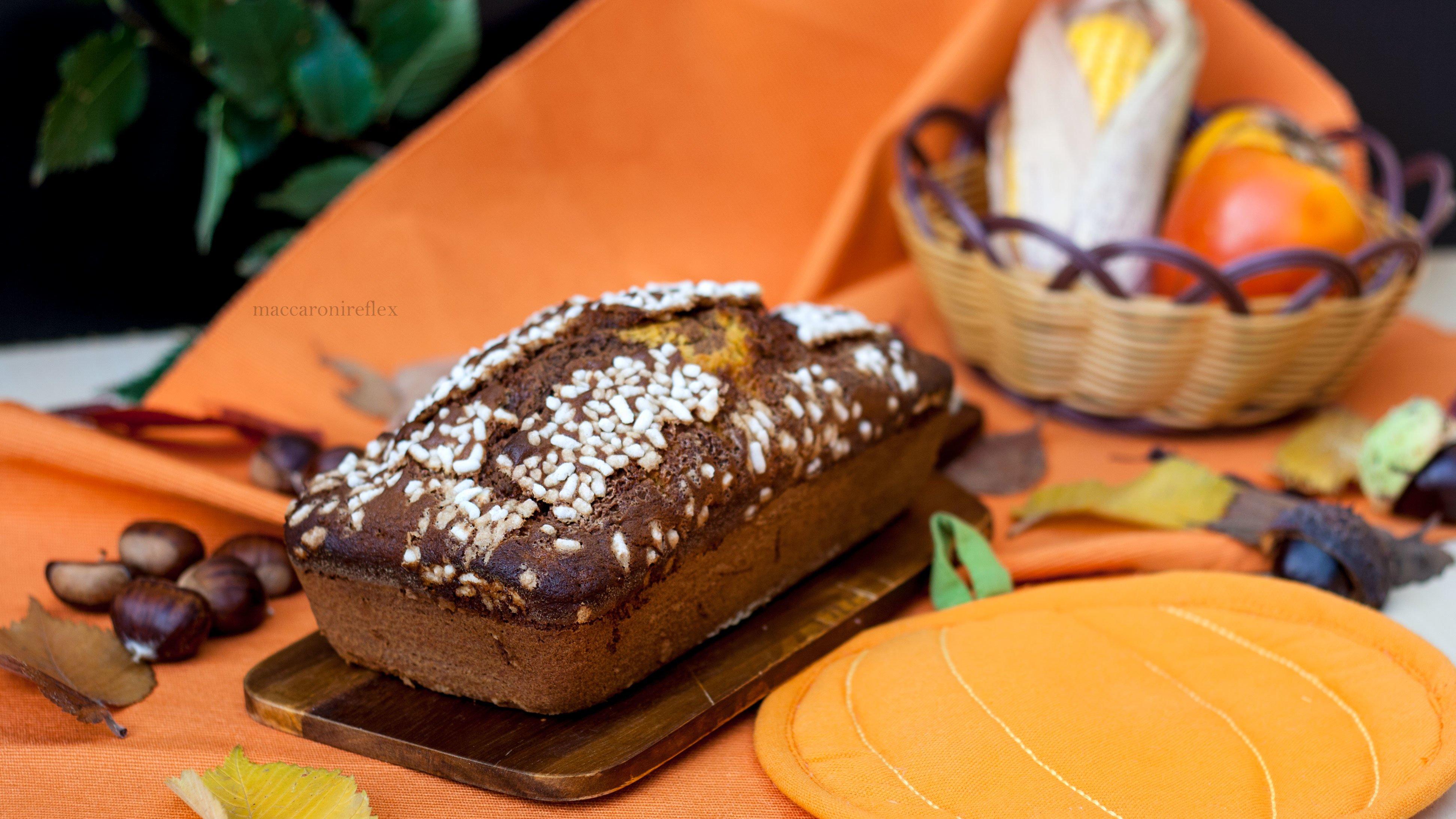 Plumcake alla zucca e cacao