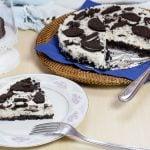 Light oreo cheesecake