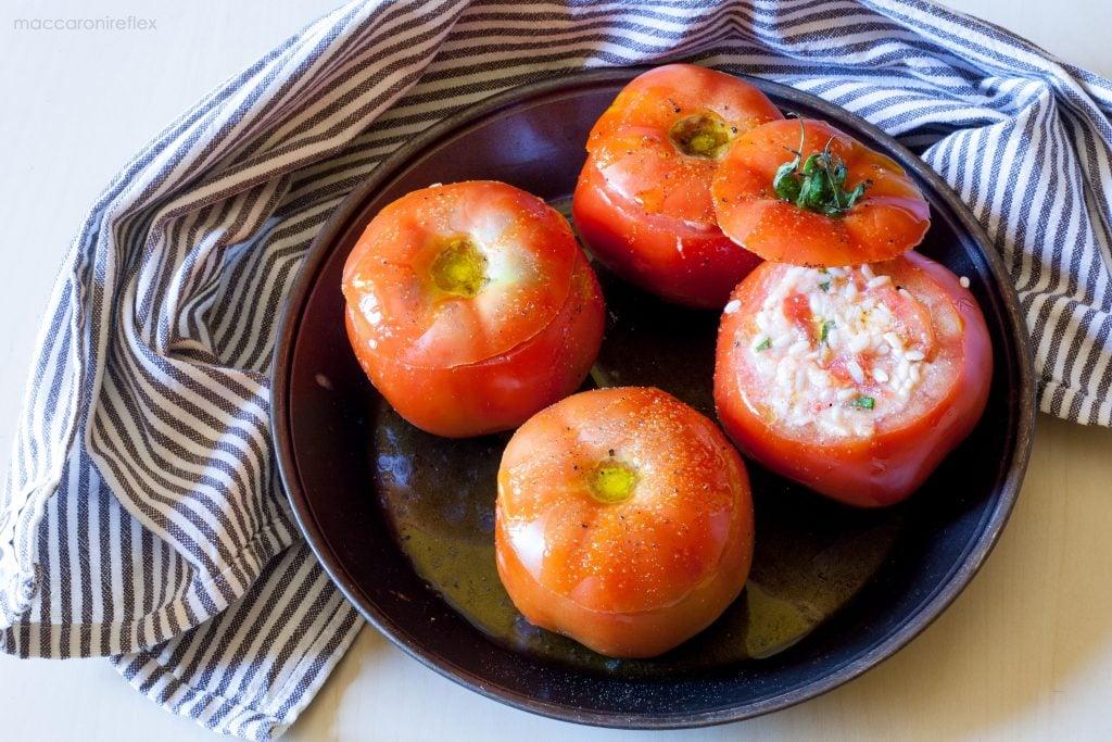 Pomodorini ripieni di riso