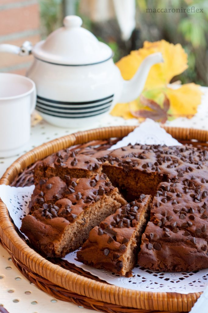 Ricetta torta con farina di castagne e cioccolato