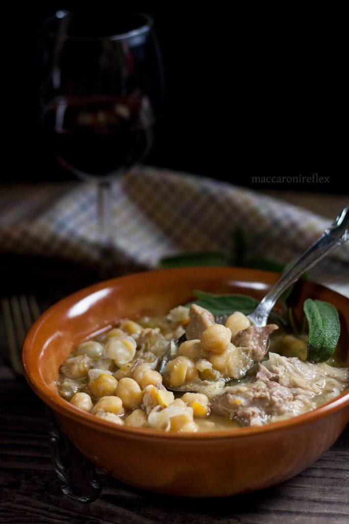 Zuppa di ceci e costine di maiale: ricetta piemontese