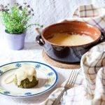 Flan di verdure con fonduta al raschera