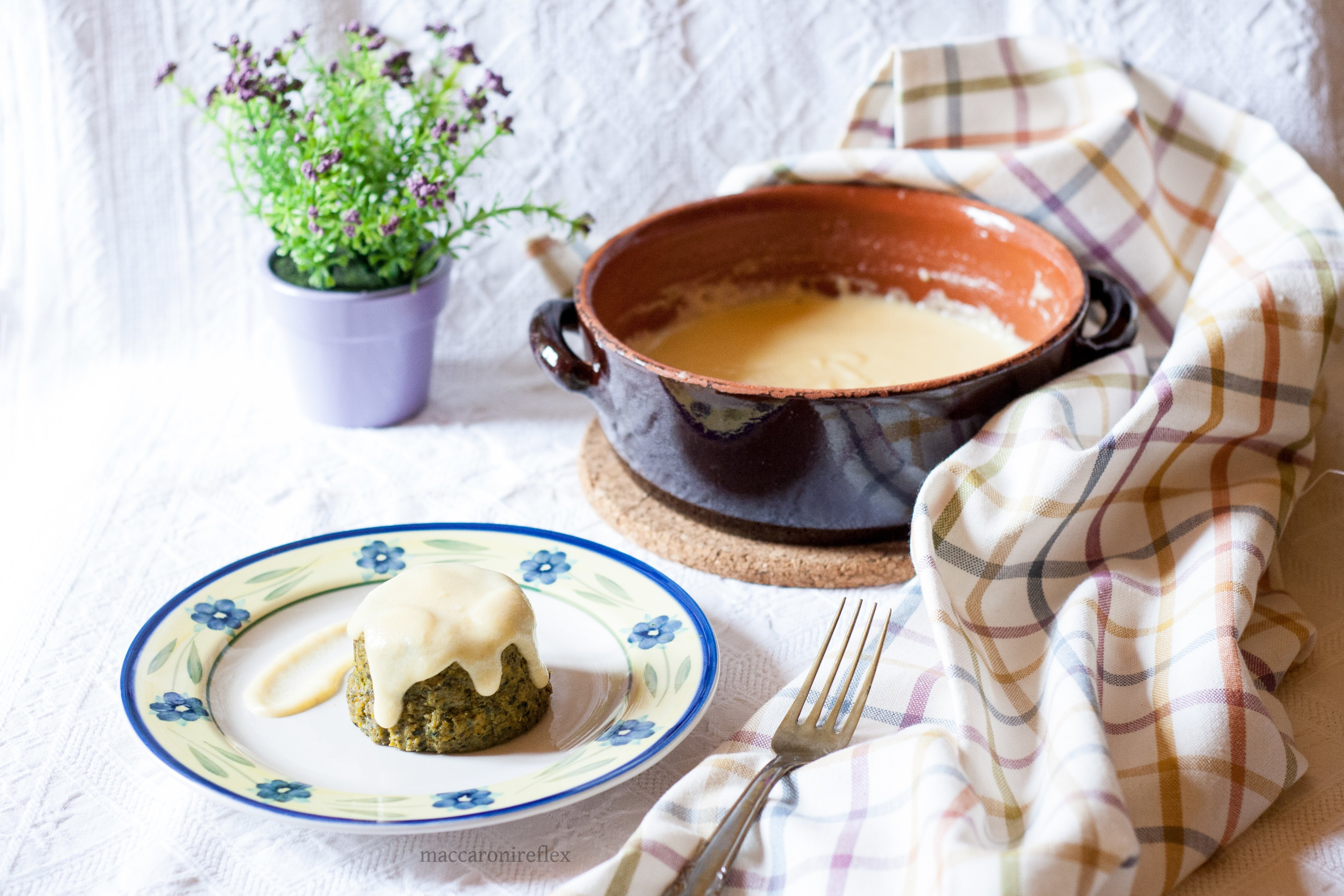 Flan di verdure con fonduta