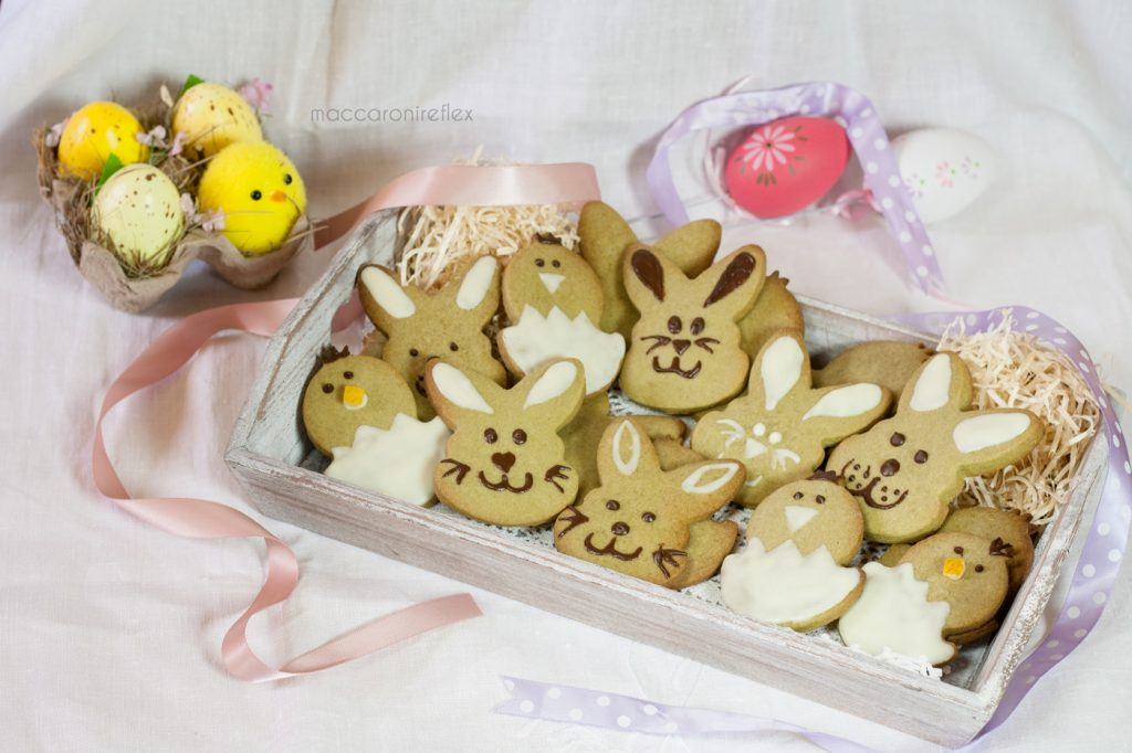 Biscotti al tè matcha - biscotti di Pasqua