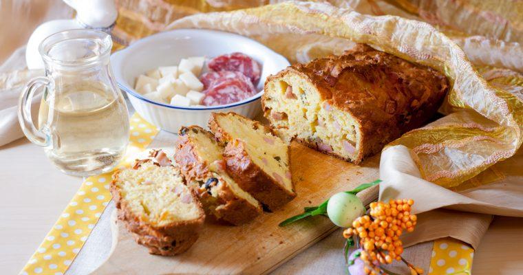 Plumcake salato alle olive e prosciutto