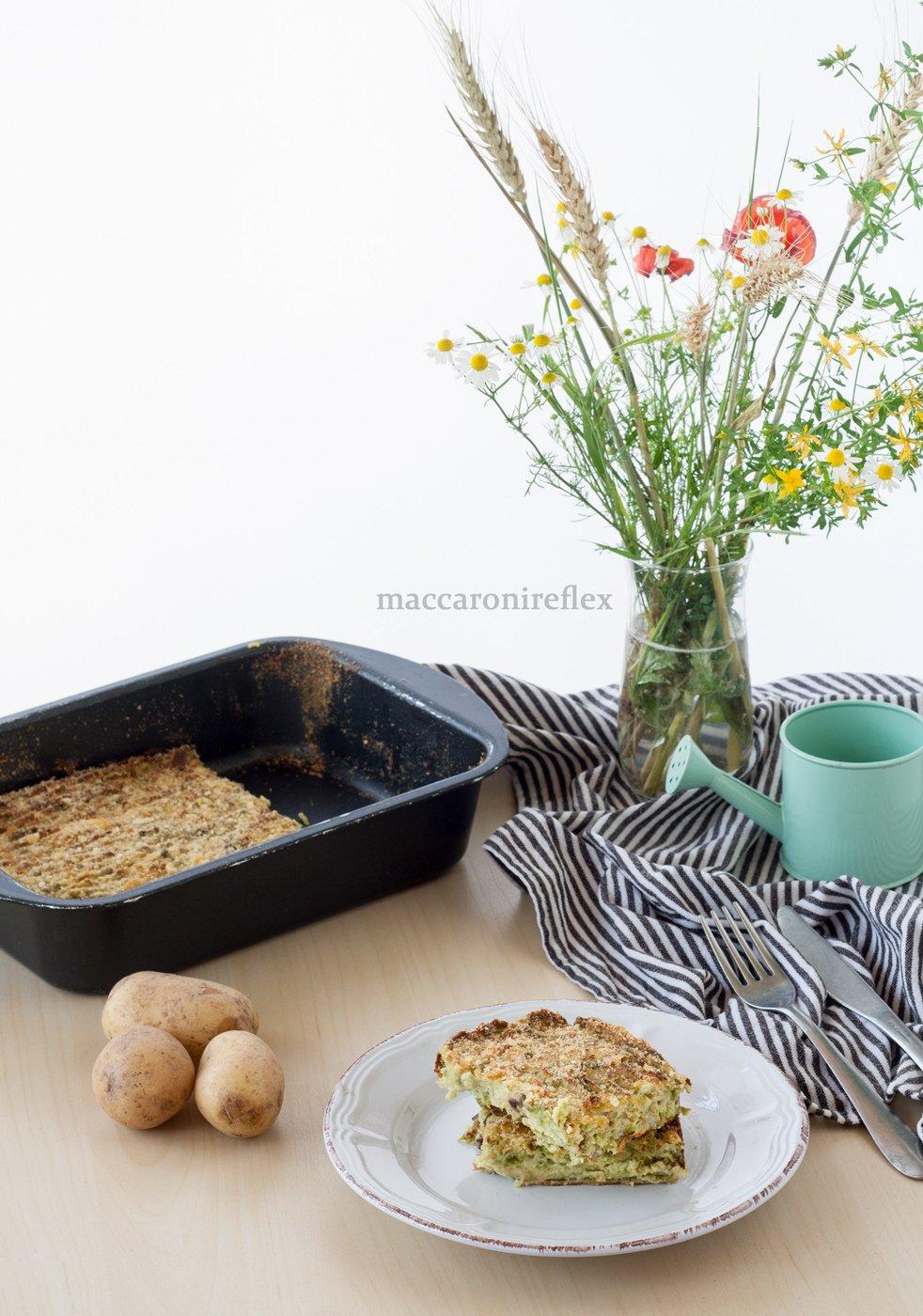 Polpettone ligure di fagiolini e patate