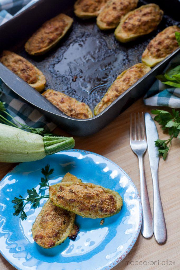 Zucchine ripiene al forno: ricetta