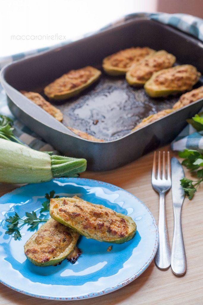 Zucchine ripiene al forno con carne