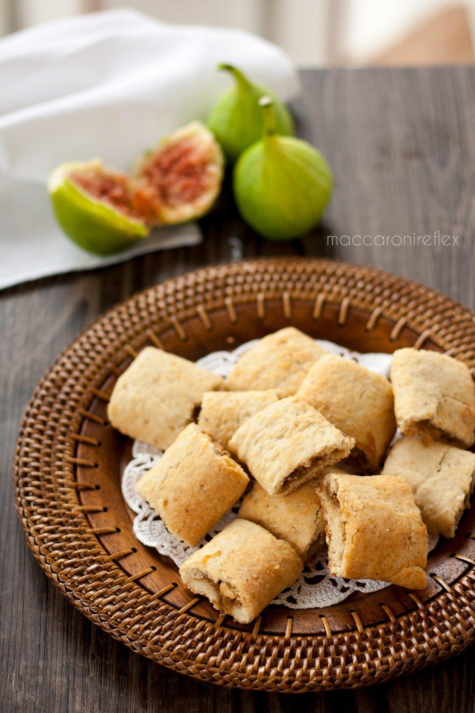 Biscotti morbidi con fichi freschi