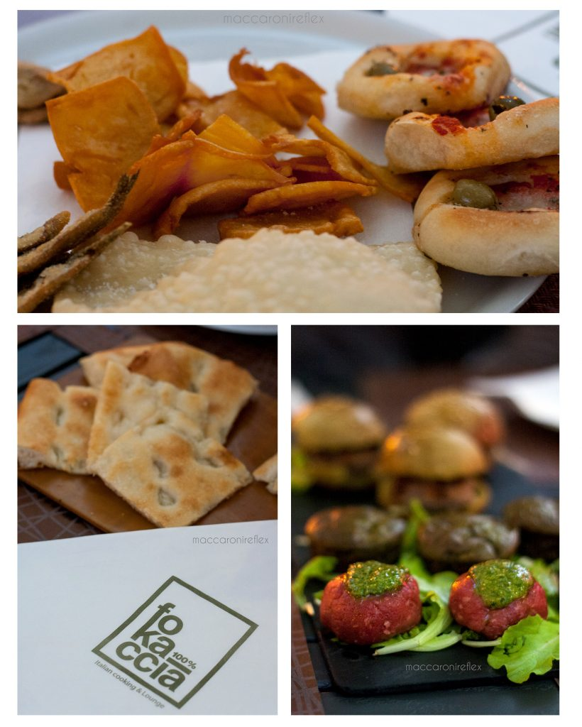 Fokaccia a Genova - aperitivo per la festa delle attività in proprio