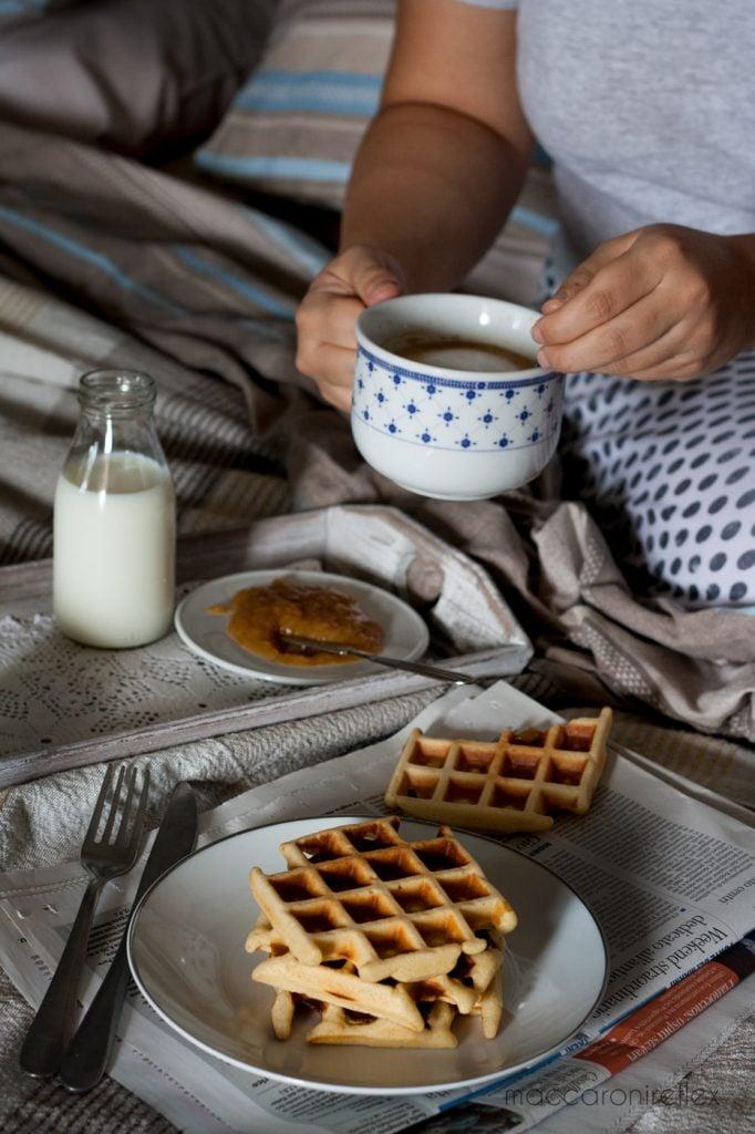 Waffle ricetta americana colazione