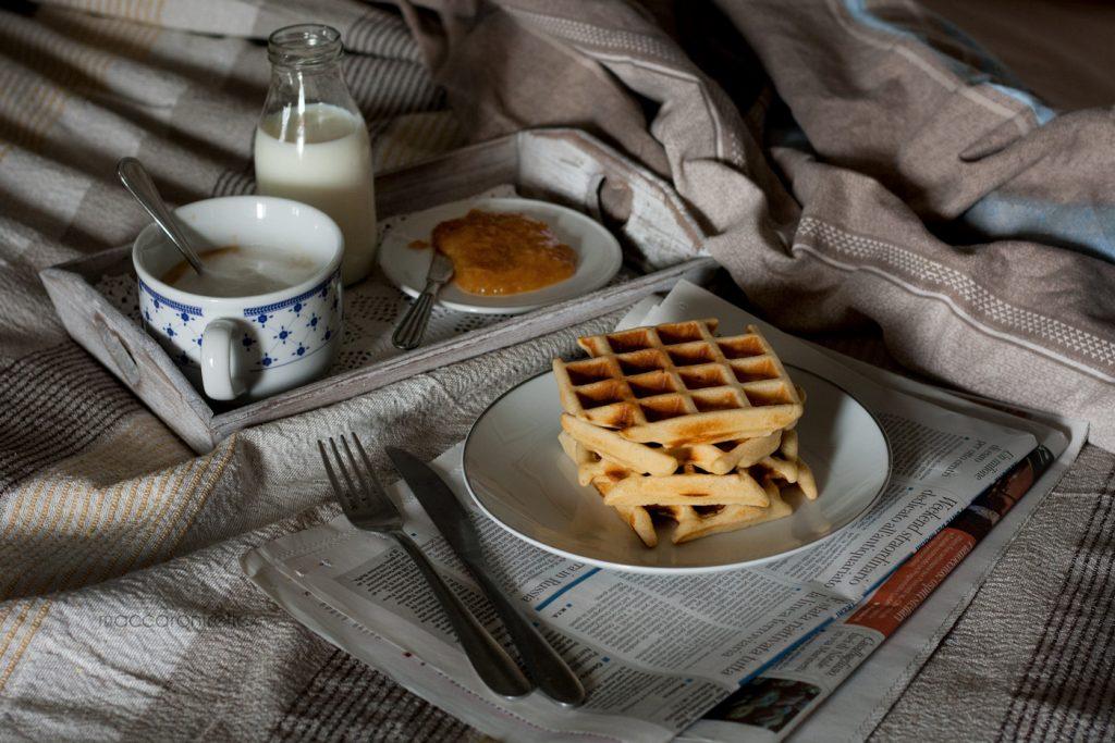 Waffle ricetta americana per colazione