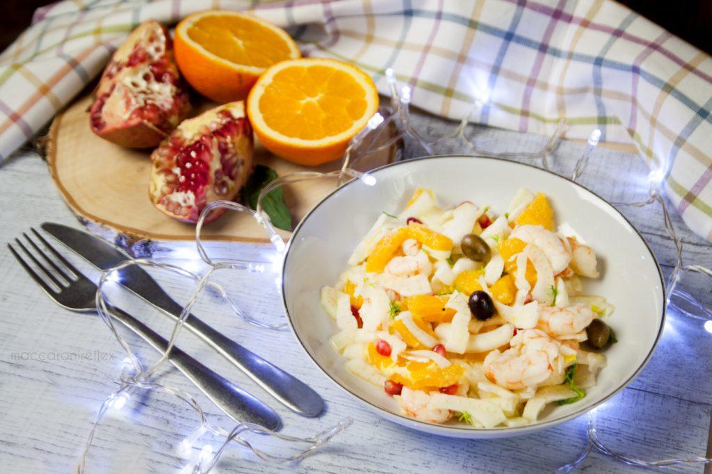 Insalata di finocchi arance e gamberi - ricetta dopo le feste