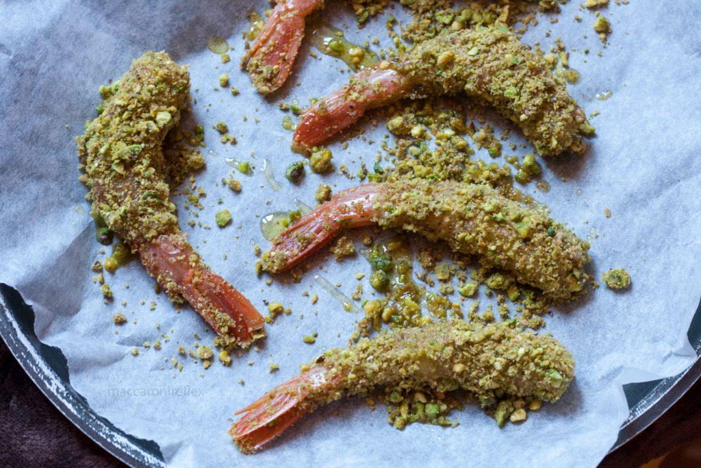 Gamberi gratinati ai pistacchi per San Valentino - ricetta
