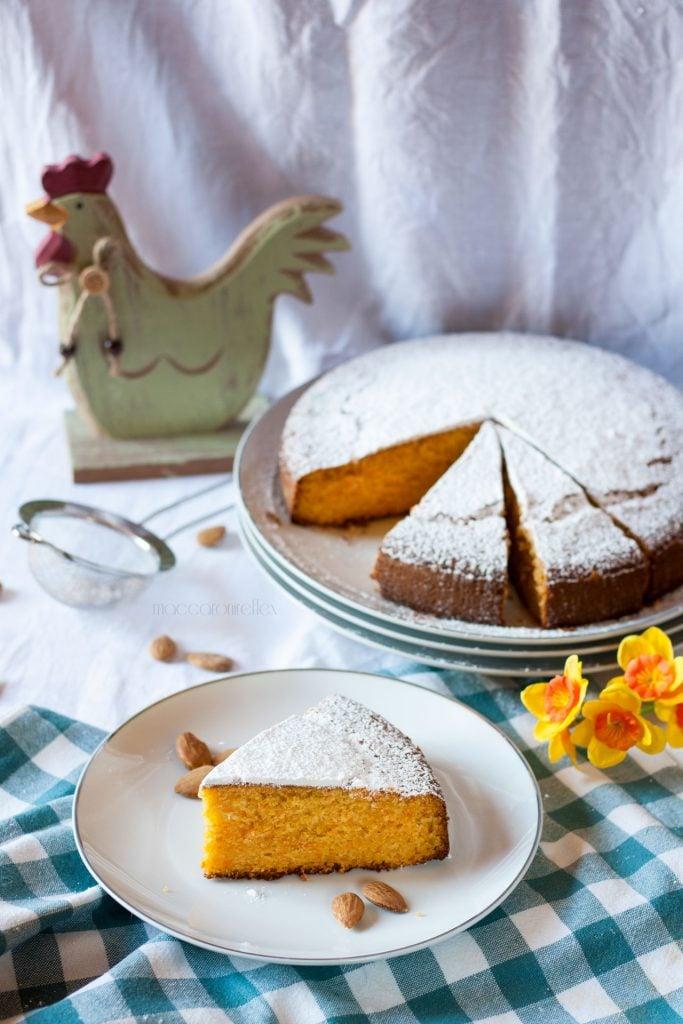 Torta di carote e mandorle tipo Camilla della Mulino Bianco