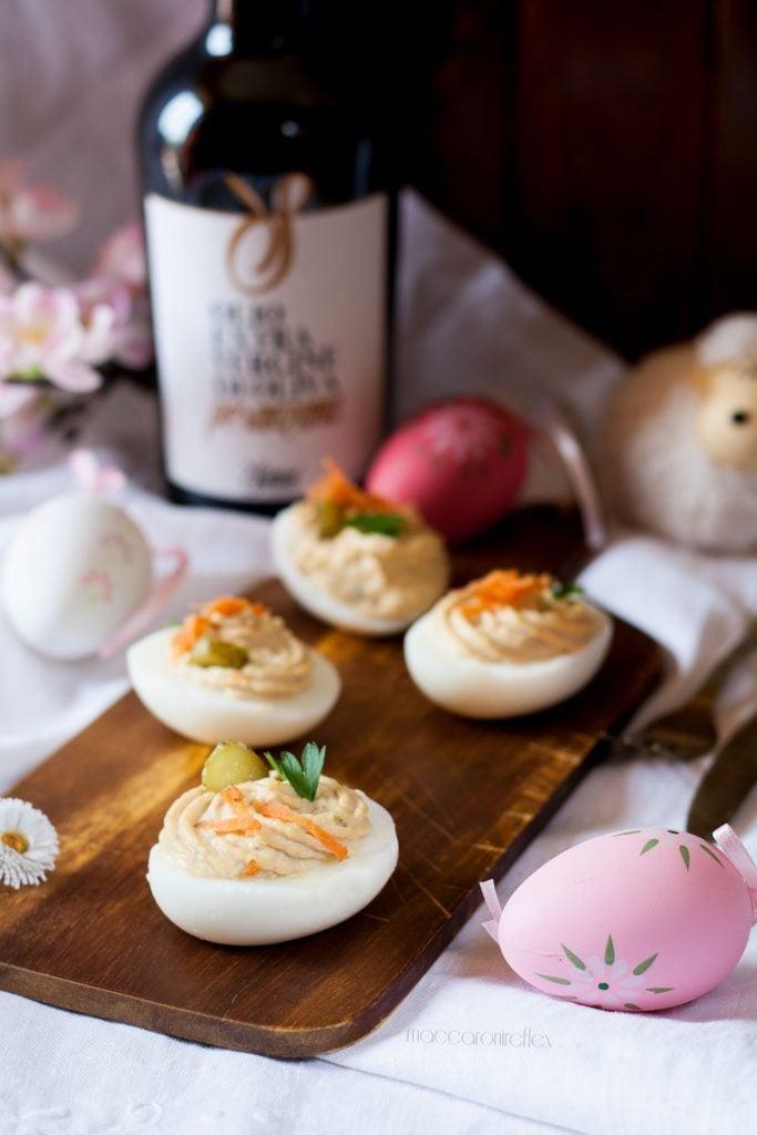 Uova ripiene con salsa tonnata per Pasqua