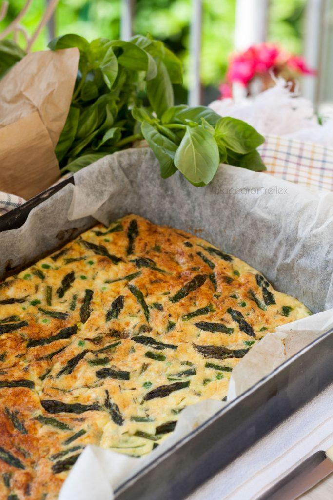 Frittata di asparagi e piselli al forno - dieta senza rinunce