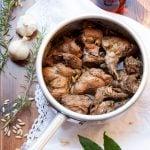 Coniglio alla ligure con patate e peperoni - Motoraduno Madonnina dei Centauri ad Alessandria