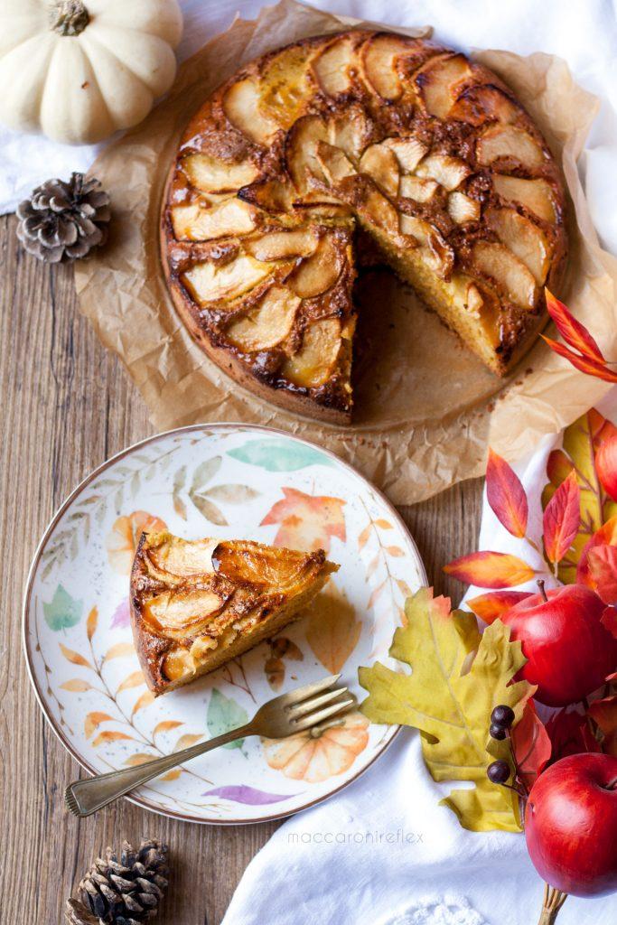 Torta di mele e zucca senza burro