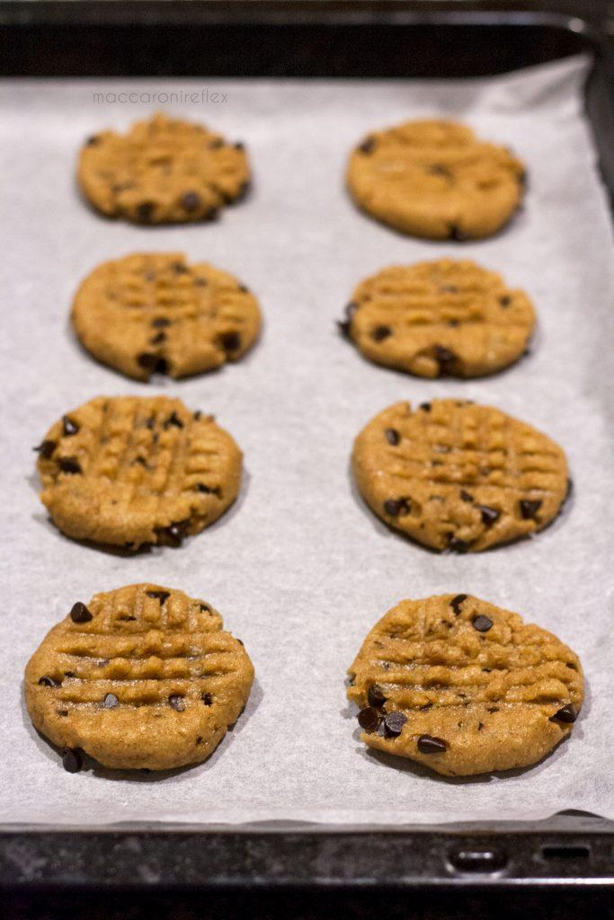 Cookies integrali con gocce di cioccolato fondente