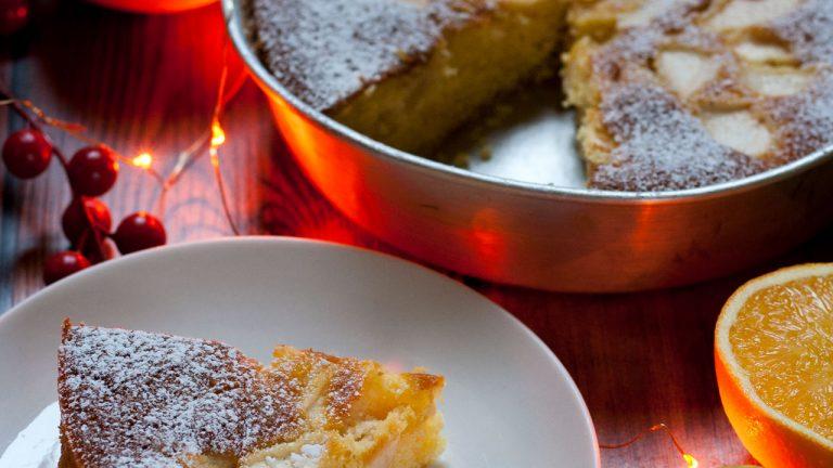 torta di mele e arance light e soffice