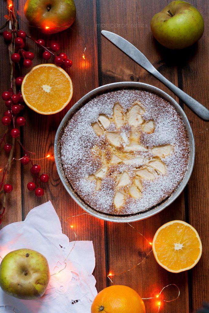 Torta di mele e arance soffice senza burro