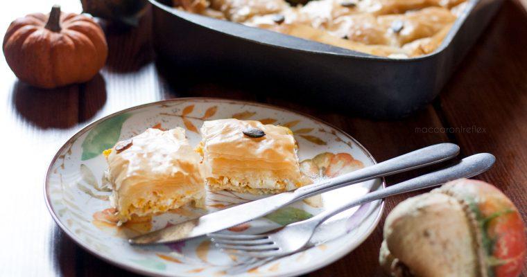 Torta salata con zucca e feta