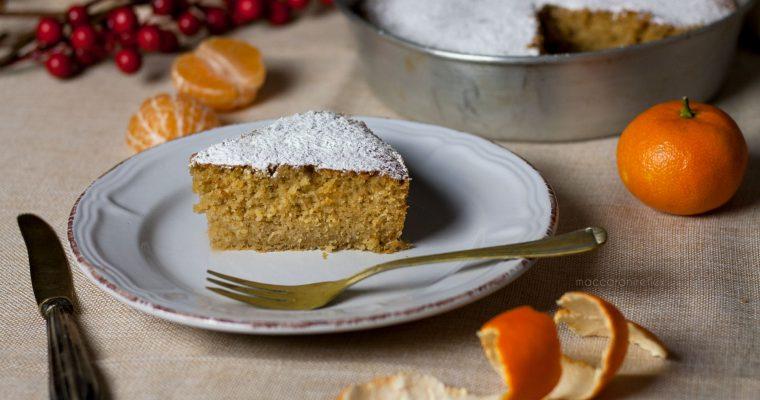 Torta morbida con farina di castagne e clementine
